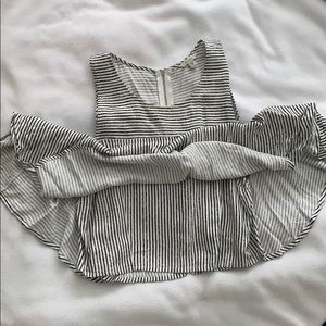 Black & White Striped Crop Tank From Guess